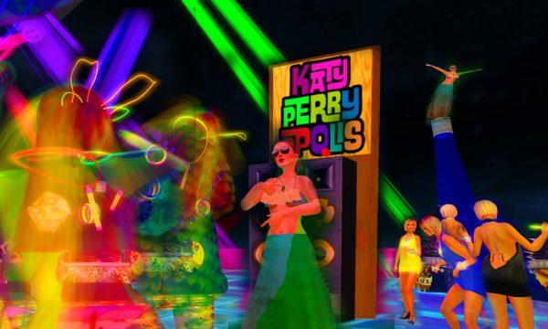 highly colorful photo of dancers at KATYPERRYOPOLIS!