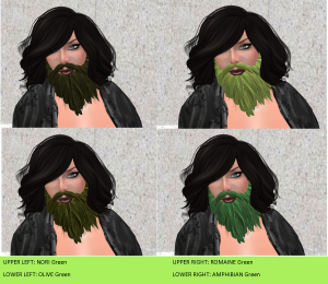 Green Beards in Four Stylish Shades...