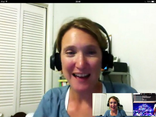 ScreenCap of Molly Ross and Vanessa Blaylock in a google hangout