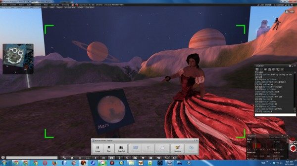 ScreenCap of Christa Forster dancing at the planet Mars at Kimika Ying's Oceania Planetary Park
