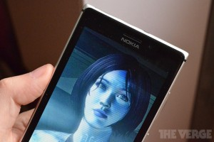 photo of Cortana on the screen of a phone running Windows Phone 8.1
