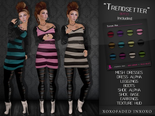 Trendsetter costume in various color stripes