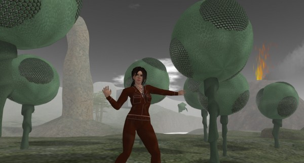 photo of Vanessa Blaylock on the alien, gaseous covered surface of Planet Venus, circa the mid-20th century