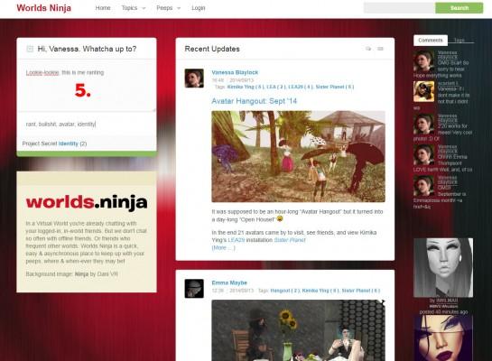 Screen Cap of Worlds.ninja website