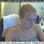 "ScreenCap from Jennifer Ringley's Lifecast Webcast ""Jennicam"" circa 1996 - 2003"