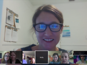 Screen cap of a Google Video Hangout
