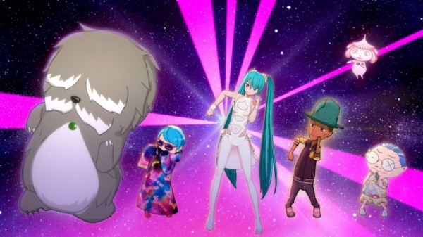 Hatsune Miku & Pharrell Williams dancing