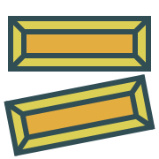 icon graphic of 2 gold bars