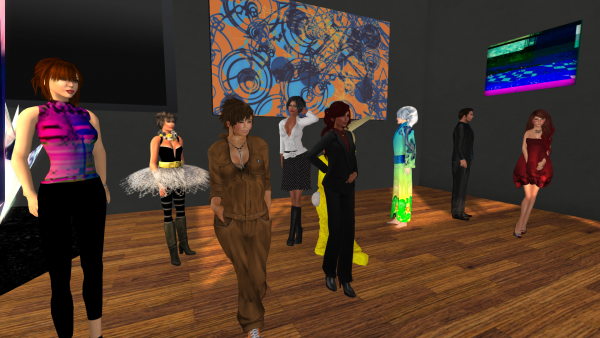 Artists and attendees at the opening.